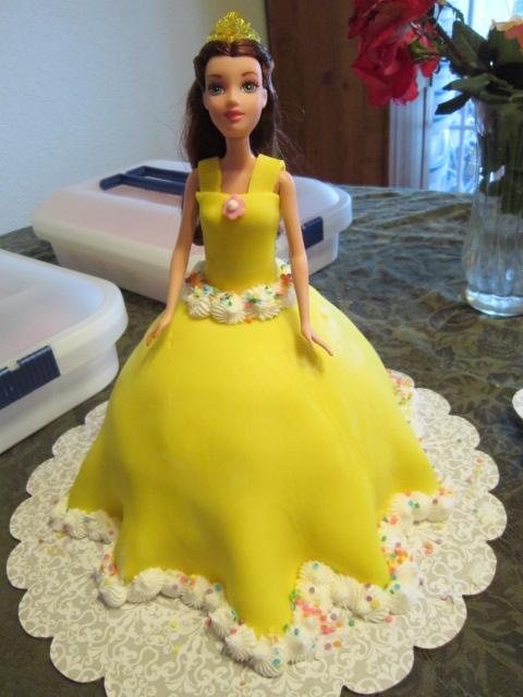 Barbie or Princess Belle Cake lynndaviscakes