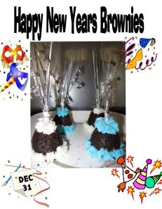 New Years Brownie