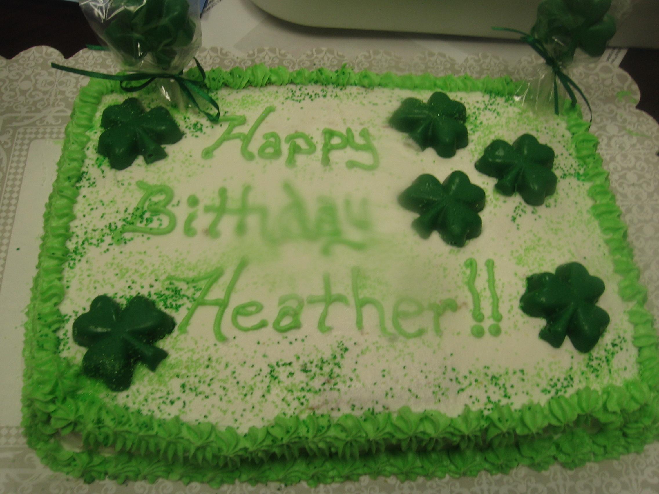 Marvelous St Patrick Birthday Cake Lynndaviscakes Personalised Birthday Cards Cominlily Jamesorg