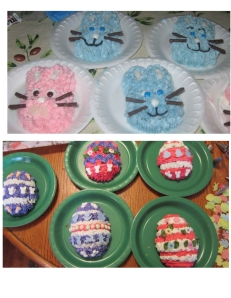 bunny and egg cupcakes