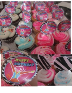 sports girl cupcakes