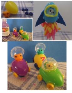 mini cars and rocket eggs