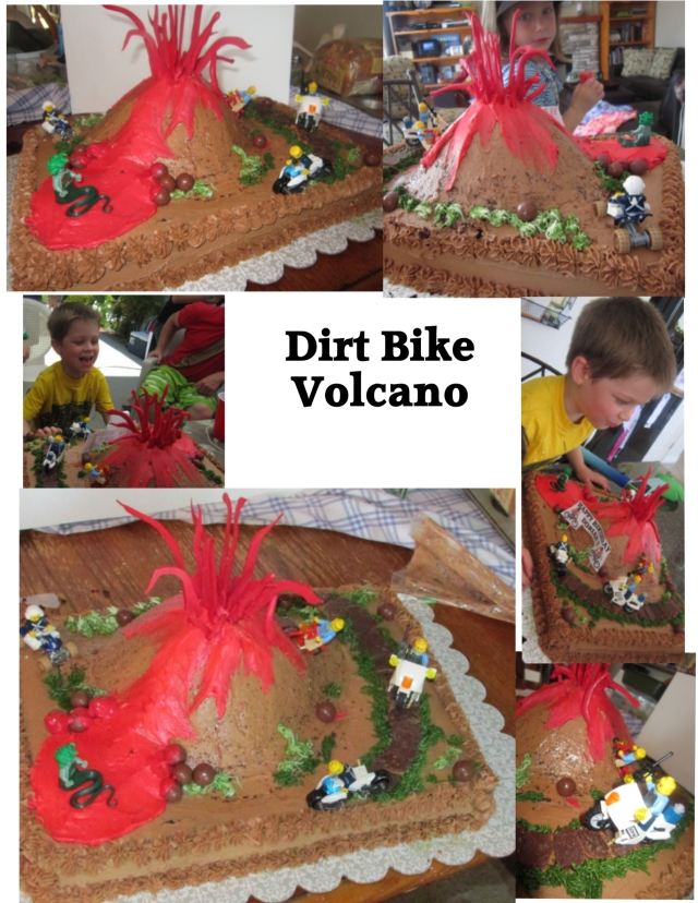 Swell Dirt Bike Volcano Cake Lynndaviscakes Birthday Cards Printable Trancafe Filternl