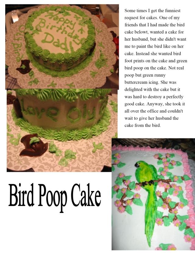 bird poop cake