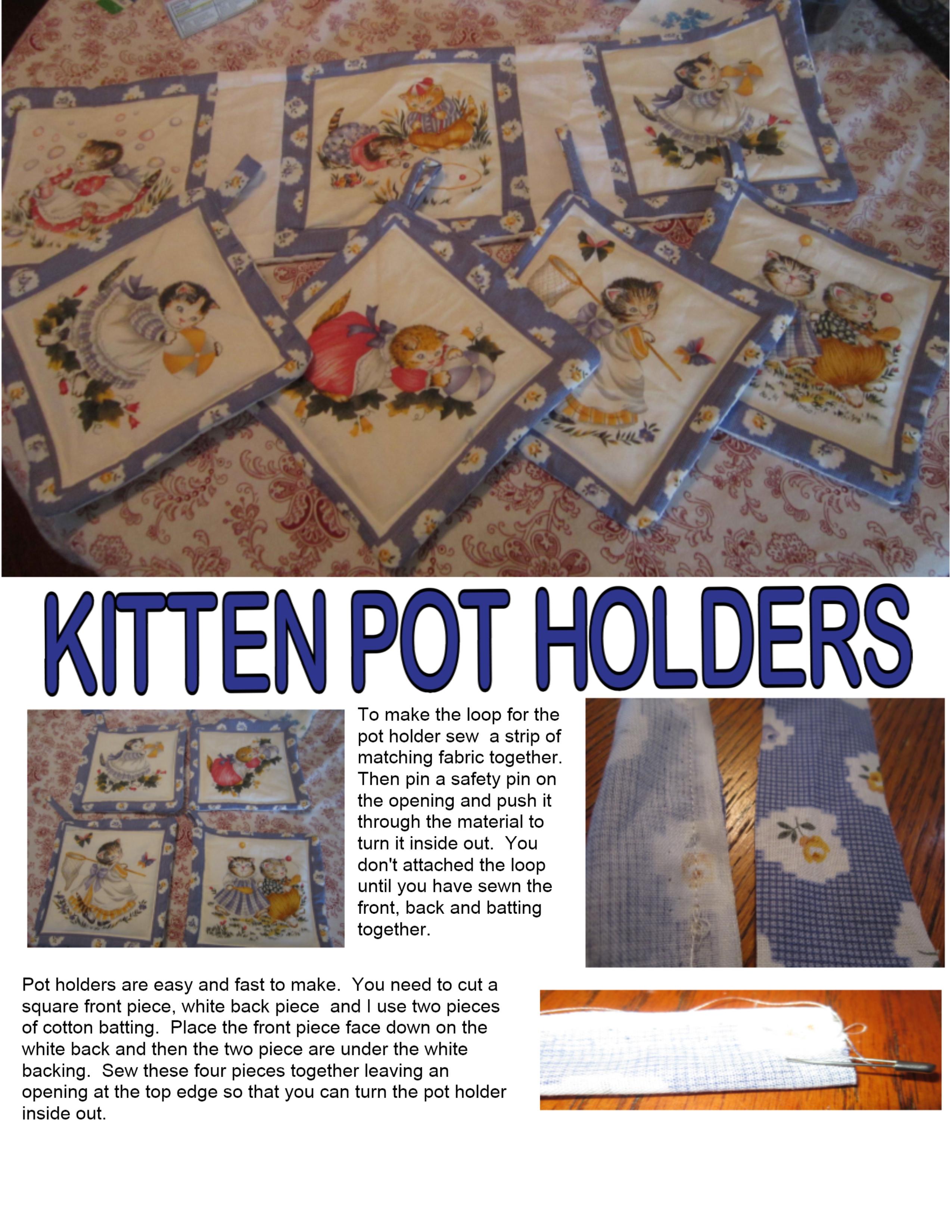 Cat Pot Holder Lynndaviscakes