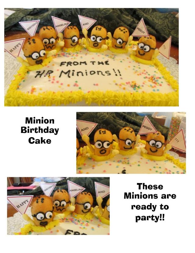 minion bd cake