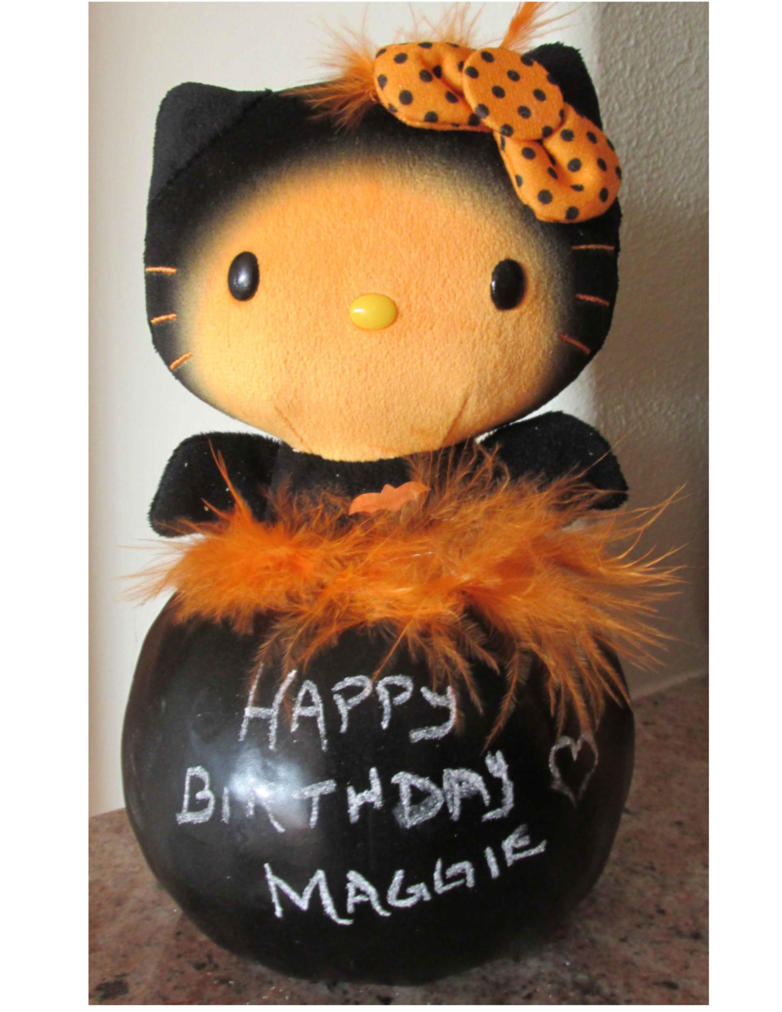 Happy Birthday Halloween Kitty Pumpkin | lynndaviscakes