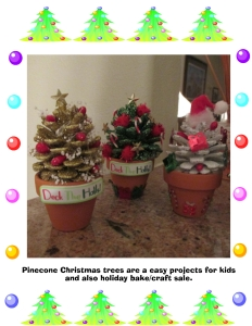 Pinecone xmas trees
