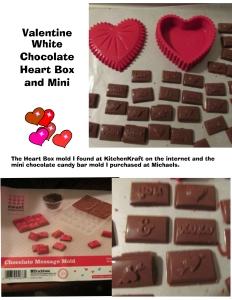 Choc heart and bars