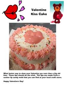 Valentine Kiss Cake