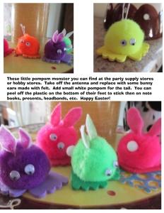 Monster Bunny Pompom