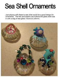 Sea Shell ornaments