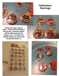 Halloween sticker earrings