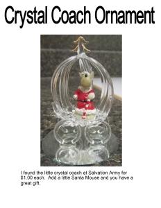 Crystal Coach Ornament