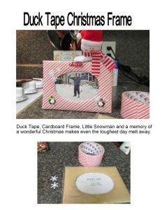 Duck Tape Christmas Frame