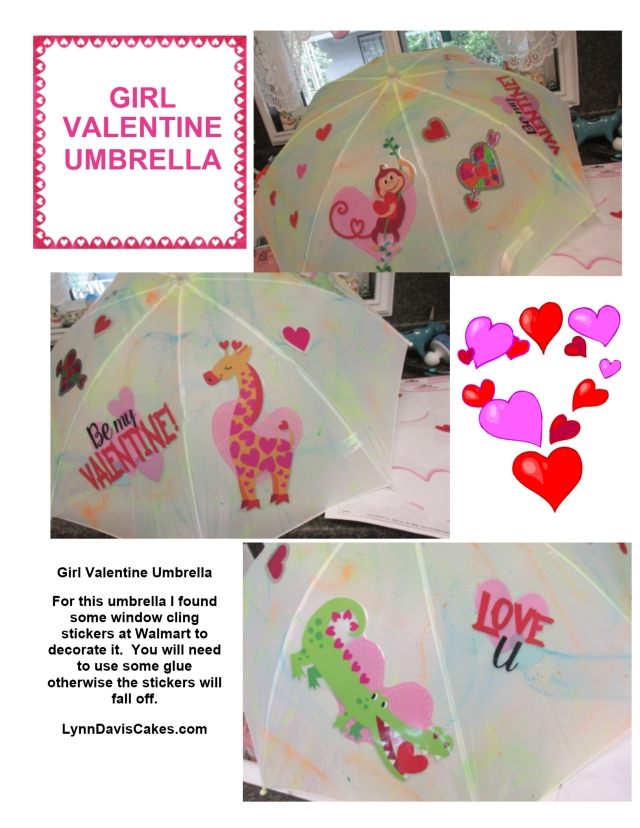 LITTLE GIRL Valentine Umbrella