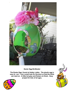 easter bird feeder