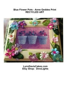 ANNE GETTE RECYCLE blue flower pot