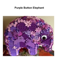 Purple Button Elephant