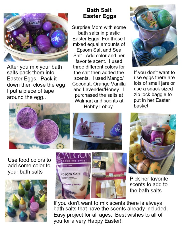 Bath salt easter eggs
