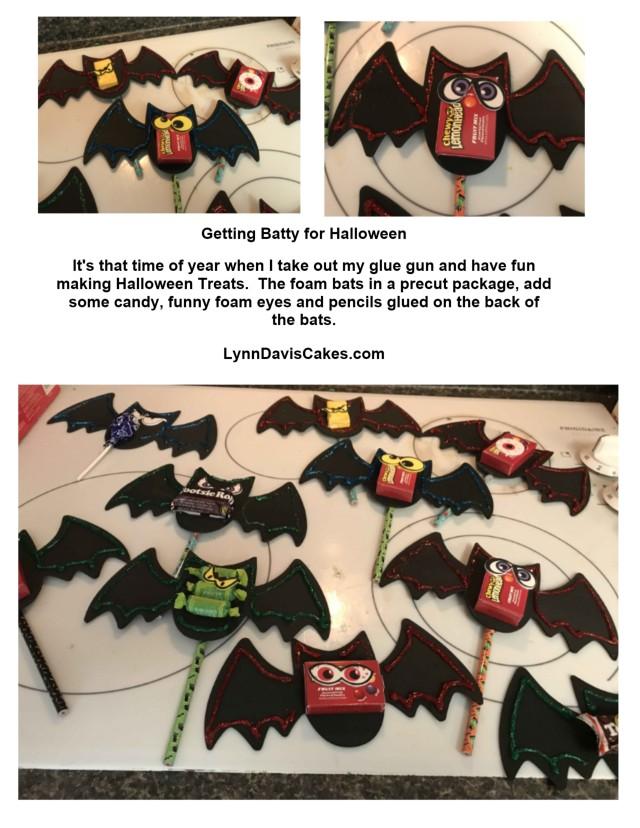 bat candy pencils