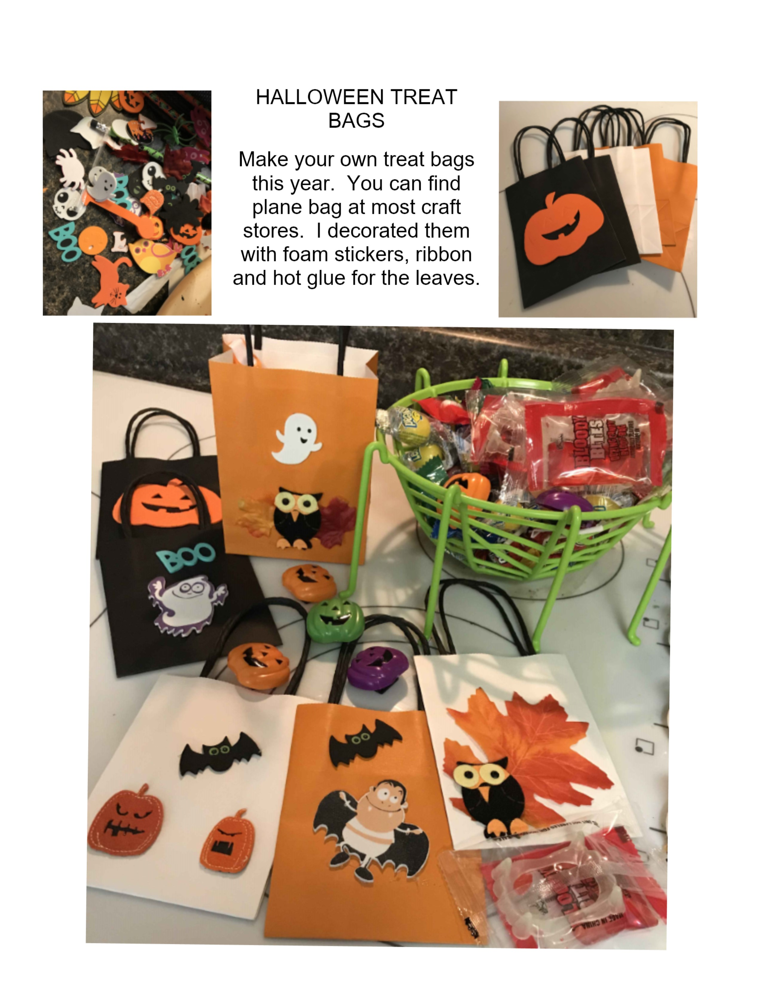Halloween treat bag  sc 1 st  lynndaviscakes & Halloween Treat Bags | lynndaviscakes