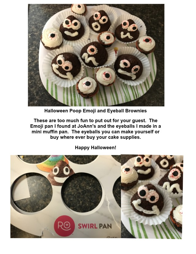 Poop Emoji Halloween Brownies
