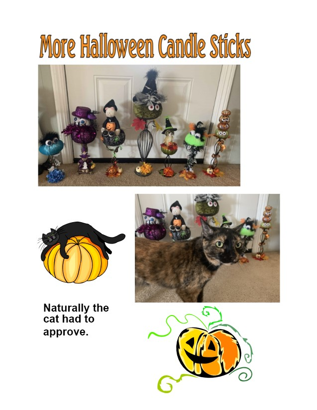 more Halloween candle sticks
